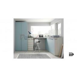 Composición Juvenil JJP 43 Colección UP, Cama Abatible Horizontal